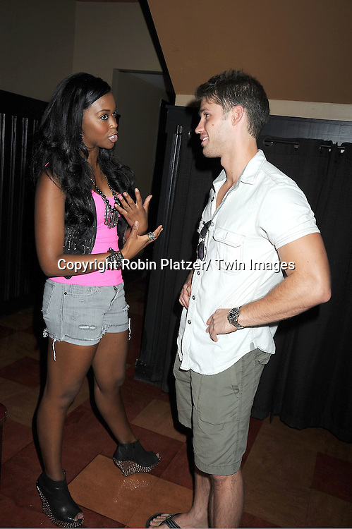 Nafessa Williams and David Gregory attending the 5th Annual Sean Ringgold Fan Club Party on August 12, 2011 at HB Burger's Sunken Bar in New York City.