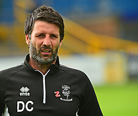 Lincoln City manager Danny Cowley during the pre-match warm-up<br /> <br /> Photographer Andrew Vaughan/CameraSport<br /> <br /> The EFL Sky Bet League One - Macclesfield Town v Lincoln City - Saturday 15th September 2018 - Moss Rose - Macclesfield<br /> <br /> World Copyright &copy; 2018 CameraSport. All rights reserved. 43 Linden Ave. Countesthorpe. Leicester. England. LE8 5PG - Tel: +44 (0) 116 277 4147 - admin@camerasport.com - www.camerasport.com