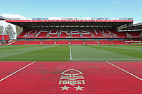 A general view of the City Ground, the home of Nottingham Forest<br /> <br /> Photographer David Shipman/CameraSport<br /> <br /> The EFL Sky Bet Championship - Nottingham Forest v Blackburn Rovers - Saturday 13th April 2019 - The City Ground - Nottingham<br /> <br /> World Copyright © 2019 CameraSport. All rights reserved. 43 Linden Ave. Countesthorpe. Leicester. England. LE8 5PG - Tel: +44 (0) 116 277 4147 - admin@camerasport.com - www.camerasport.com