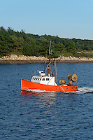 Commercial fishing boat, Nantucket Sound, Cape Cod, Massachusetts, USA