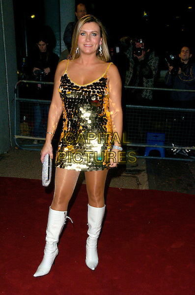 "GUEST.Arrives at ""An Audience With Take That"".at The London Television Studios,.London, England, December 2nd 2006..full length gold sequined dress white knee high boots.CAP/CAN.©Can Nguyen/Capital Pictures"