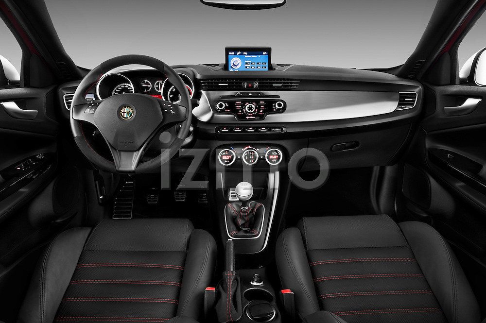 Straight dashboard view of a 2010 - 2014 Alfa Romeo Giulietta 5 door hatchback.