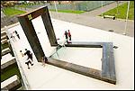Il monumento agli skaters nel nuovo Parco Dora. Nell'area delle acciaierie Vitali nasce il nuovo parco della Spina tre.