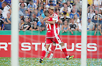 Grischa Proemel, Simon Hedlund 4:2    celebration   4:2  <br /> / Sport / Football / DFB Pokal 1.round 3. Bundesliga 2.Bundesliga /  2018/2019 / 19.08.2018 / FC CZ Jena vs. 1.FC Union Berlin / DFL regulations prohibit any use of photographs as image sequences and/or quasi-video. /<br />       <br />    <br />  *** Local Caption *** &copy; pixathlon<br /> Contact: +49-40-22 63 02 60 , info@pixathlon.de
