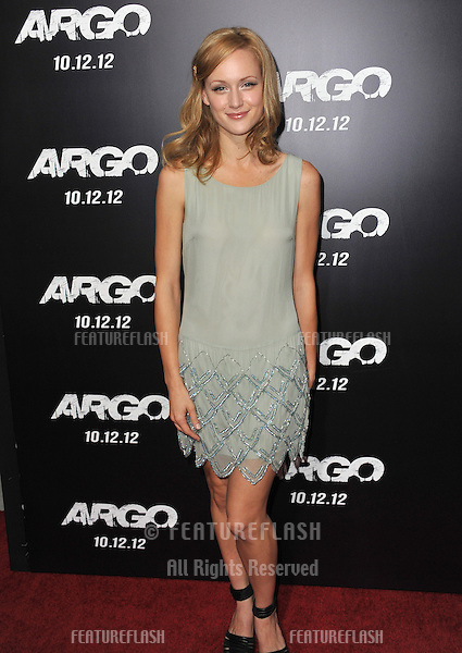 "Kerry Bishe at the Los Angeles premiere of her movie ""Argo"" at the Samuel Goldwyn Theatre, Beverly Hills..October 4, 2012  Beverly Hills, CA.Picture: Paul Smith / Featureflash"
