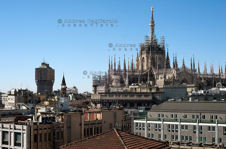 Italia, Milano, Il Duomo. <br /> Italy, Milan, The Cathedral.