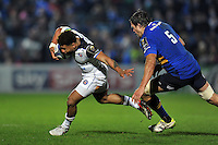 Kyle Eastmond of Bath Rugby goes on the attack. European Rugby Champions Cup match, between Leinster Rugby and Bath Rugby on January 16, 2016 at the RDS Arena in Dublin, Republic of Ireland. Photo by: Patrick Khachfe / Onside Images