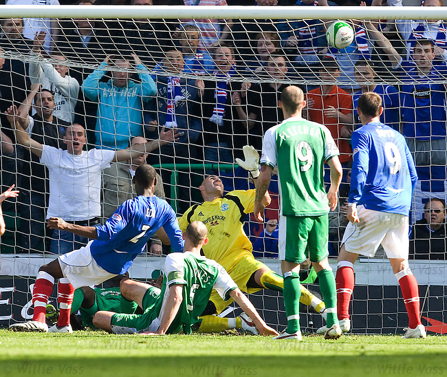 Maurice Edu scores for Rangers past the hands of keeper Grzegorz Szmotulski