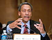 United States Representative Melvin Watt (Democrat of North Carolina) testifies before the U.S. Senate Banking, Housing, and Urban Affairs Committee on his nomination as Director of the Federal Housing Finance Agency on Thursday, June 27, 2013.<br /> Credit: Ron Sachs / CNP