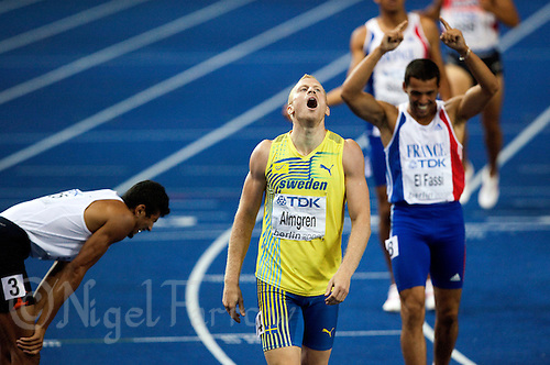 20 AUG 2009 - BERLIN, GER - Daniel Aimgreen (SWE) - Decathlon  1500m Heat - World Athletics Championships .(PHOTO (C) NIGEL FARROW)