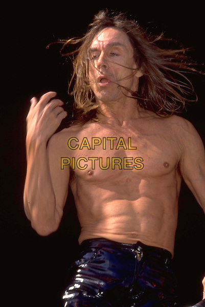 IGGY POP .REF:7694 .topless, in concert, torso.www.capitalpictures.com.sales@capitalpictures.com.©Capital Pictures
