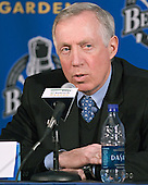 Jerry York - The Boston College Eagles defeated the Northeastern University Huskies 5-2 in the opening game of the 2006 Beanpot at TD Banknorth Garden in Boston, MA, on February 6, 2006.