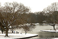 Charlotteans enjoy a rare snowfall that coated the Southeastern city in January 2009. Photo taken in Freedom Park, part of the Myers Park community.
