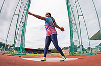 Gia LEWIS-SMALLWOOD of USA warms up in the Women Discus Throw during the Muller Grand Prix Birmingham Athletics at Alexandra Stadium, Birmingham, England on 20 August 2017. Photo by Andy Rowland.