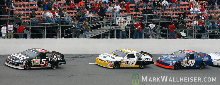 Marc Mitchell (93), of Tallahassee, chases race winner Bobby Gerhart (5) late in the ARCA RE/MAX 200 at Dayton International Speedway in Daytona Beach, Florida  February 10, 2007.    (Mark Wallheiser/TallahasseeStock.com)