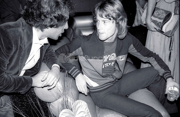 1978 <br /> New York City<br /> Steve Rubell Andy Gibb at Studio 54<br /> Credit: Adam Scull-PHOTOlink/MediaPunch