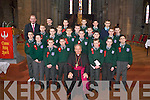 Bishop Bill Murphy with pupils from the Monastery National School, Killarney, who made their Confirmation in St Marys Cathedral, Killarney, on Friday..