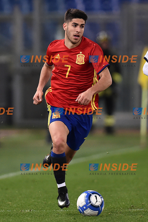 Marco Asensio Spagna <br /> Roma 27-02-2017, Stadio Olimpico<br /> Football Friendly Match  <br /> Italy - Spain Under 21 Foto Andrea Staccioli Insidefoto