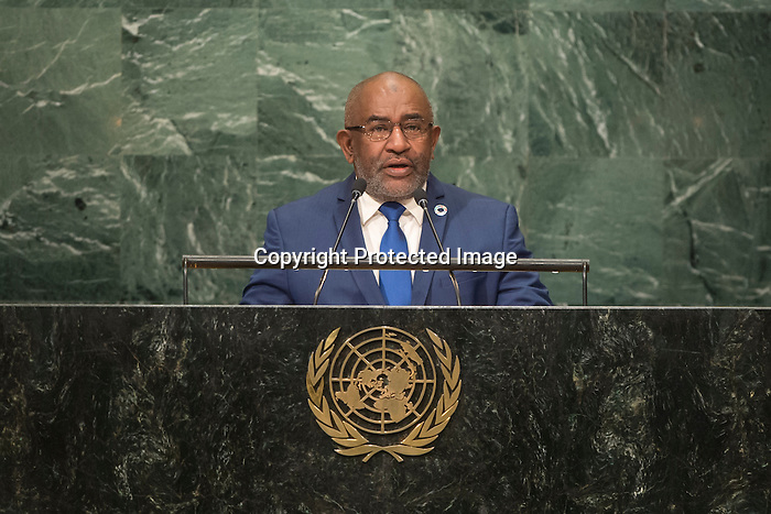 Comoros<br /> H.E. Mr. Azali Assoumani<br /> President<br /> <br /> <br /> General Assembly Seventy-first session, 17th plenary meeting<br /> General Debate