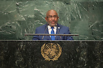 Comoros<br /> H.E. Mr. Azali Assoumani<br /> President<br /> <br /> <br /> General Assembly Seventy-first session, 17th plenary meeting<br /> General Debate