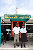 EXUMA, Bahamas. Locals at the Staniel Cay Yacht Club in Staniel Cay.