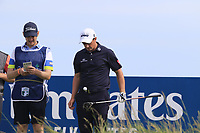 Paul Dunne (IRL) on the 15th tee during Thursday's Round 1 of the Dubai Duty Free Irish Open 2019, held at Lahinch Golf Club, Lahinch, Ireland. 4th July 2019.<br /> Picture: Eoin Clarke | Golffile<br /> <br /> <br /> All photos usage must carry mandatory copyright credit (© Golffile | Eoin Clarke)
