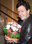 Dylan Baker with flowers for his wifeattending the Opening Night for the Playwrights Horizons World Premiere Production of 'The Great God Pan' at Playwrights Horizons Theatre in New York City on December 18, 2012