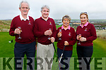 Members of the Ballybunion Golf Club, l to r: Brendan O'Sullivan (Men's President), Patrick O'Sullivan (Men's Captain), Margaret McAuliffe (Ladies Captain) and Ray Pender McCarthy (Lady President) at the Captains Drive on Sunday