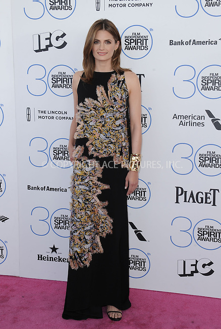 WWW.ACEPIXS.COM<br /> <br /> February 21 2015, LA<br /> <br /> Stana Katic arriving at the 2015 Film Independent Spirit Awards at Santa Monica Beach on February 21, 2015 in Santa Monica, California.<br /> <br /> By Line: Peter West/ACE Pictures<br /> <br /> <br /> ACE Pictures, Inc.<br /> tel: 646 769 0430<br /> Email: info@acepixs.com<br /> www.acepixs.com