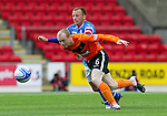 St Johnstone v Dundee United...27.08.11   SPL Week 5.Willo Flood and Jody Morris.Picture by Graeme Hart..Copyright Perthshire Picture Agency.Tel: 01738 623350  Mobile: 07990 594431