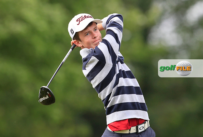 Harry Gillivan (Westport) on the 9th tee during Round 3 of the Irish Boys Amateur Open Championship at Tuam Golf Club on Thursday 25th June 2015.<br /> Picture:  Thos Caffrey / www.golffile.ie