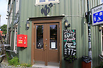 Cafe in historic old building in city centre Nedre Bakklandet area, Trondheim, Norway