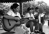 Students from the Music for Hope project taking part in a music lesson led by UK based tutor Katherine Rogers.<br />