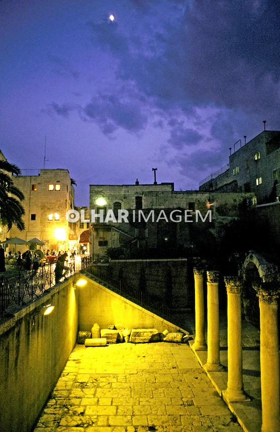 Ruínas romanas em Jerusalem. Israel. 1995. Foto de João Caldas.