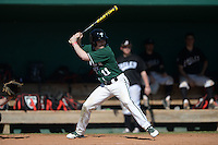 Plymouth State Panthers Peter Esposito (11) during the first game of a doubleheader against the Edgewood Eagles on March 17, 2015 at Terry Park in Fort Myers, Florida.  Edgewood defeated Plymouth State 12-3.  (Mike Janes/Four Seam Images)