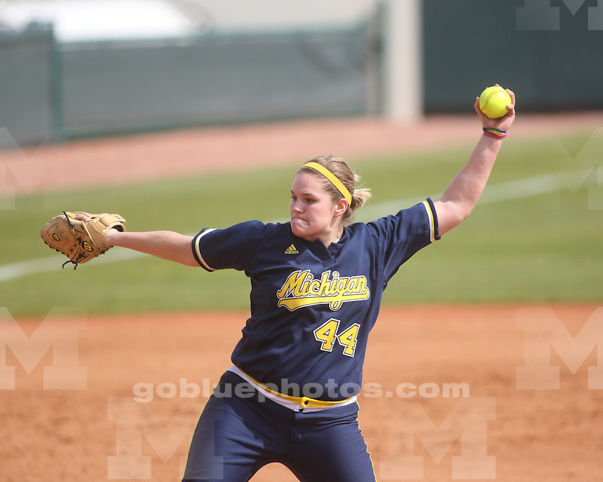 University of Michigan Softball team vs. Virginia at the LSU Tiger Invitational. February 19, 2010