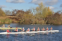 083 .AGE-Russell .W.IM2.8+ .Agecroft. Wallingford Head of the River. Sunday 27 November 2011. 4250 metres upstream on the Thames from Moulsford railway bridge to Oxford Universitiy's Fleming Boathouse in Wallingford. Event run by Wallingford Rowing Club..