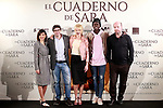 Spanish director, Norberto L&oacute;pez Amado (2l), the actors<br /> Bel&eacute;n Rueda (c), Marian &Aacute;lvarez (l) and Ivan Mendes (2r) and screenwriter Jorge Guerricaechevarr&iacute;a during the photocall of presentation of the film 'El cuaderno de Sara'. January 30, 2018. (ALTERPHOTOS/Acero)