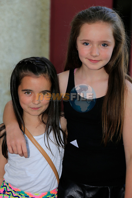 Aoife Hoey and Lidia Markey at the kids disco in the Rugby club.<br /> Picture:  Fran Caffrey www.newsfile.ie