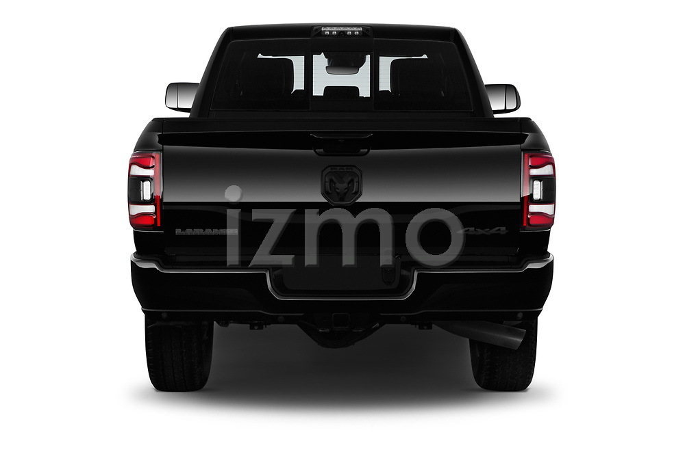 Straight rear view of a 2019 Ram Ram-2500  Laramie 4 Door Pick Up stock images