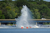 Frame 9: Dan Orchard, (#97) spins and rolls over in the East Turn. (SST-120 class)