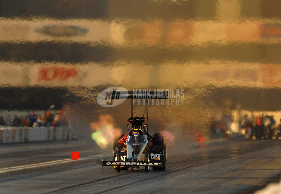 Nov 3, 2007; Pomona, CA, USA; NHRA top fuel dragster driver Rod Fuller during qualifying for the Auto Club Finals at Auto Club Raceway at Pomona. Mandatory Credit: Mark J. Rebilas-US PRESSWIRE