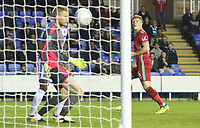 Alfie Mawson of Swansea City scores his sides first goal of the match  during the Carabao Cup Third Round match between Reading and Swansea City at Madejski Stadium, Reading, England, UK. Tuesday 19 September 2017