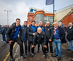11.3.2018 Rangers v Celtic:<br /> Michael Mols with Utrecht coaches and Rangers fans before the match