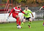 2017-11-05 / voetbal / seizoen 2017-2018 / VC Herentals - Hoeilaart / Ibrahim Danisik (l) (VC Herentals) houdt Youri Van den Berg (r) (Hoeilaart) af