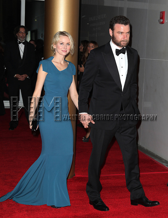 Naomi Watts & Liev Schreiber attending the 35th Kennedy Center Honors at Kennedy Center in Washington, D.C. on December 2, 2012