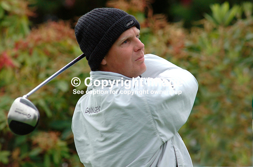 Klas Eriksson, professional golfer, Sweden. Taken during practice day prior to Smurfit European Open. K Club, Rep of Ireland. Ref: 200207025566...Copyright Image from Victor Patterson, 54 Dorchester Park, Belfast, UK, BT9 6RJ..Tel: +44 28 9066 1296.Mob: +44 7802 353836.Voicemail +44 20 8816 7153.Skype: victorpattersonbelfast.Email: victorpatterson@mac.com.Email: victorpatterson@ireland.com (back-up)..IMPORTANT: If you wish to use this image or any other of my images please go to www.victorpatterson.com and click on the Terms & Conditions. Then contact me by email or phone with the reference number(s) of the image(s) concerned.