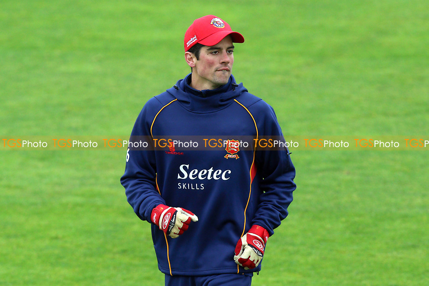 Alastair Cook of Essex warms up during Somerset CCC vs Essex CCC, Specsavers County Championship Division 1 Cricket at The Cooper Associates County Ground on 15th April 2017