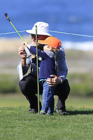 Young golf fan at the 7th green of Monterey Peninsula CC during Saturday's Round 3 of the 2018 AT&amp;T Pebble Beach Pro-Am, held over 3 courses Pebble Beach, Spyglass Hill and Monterey, California, USA. 10th February 2018.<br /> Picture: Eoin Clarke | Golffile<br /> <br /> <br /> All photos usage must carry mandatory copyright credit (&copy; Golffile | Eoin Clarke)