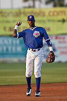 April 22 2010: Junior Lake (5) of the Daytona Beach Cubs during a game vs. the Tampa Yankees at Jackie Robinson Ballpark in Daytona Beach, Florida. Daytona, the Florida State League High-A affiliate of the Chicago Cubs, won the game against Tampa, affiliate of the New York Yankees, by the score of 9-6.  Photo By Scott Jontes/Four Seam Images